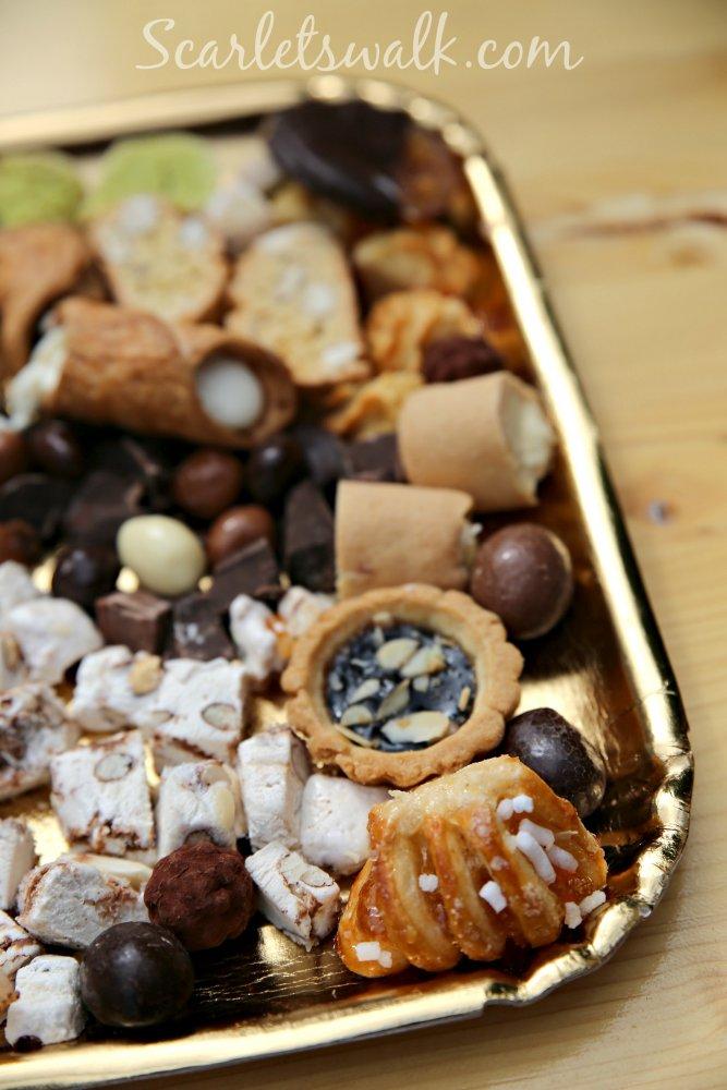 eurooppalainen ruokatori nougat sweets