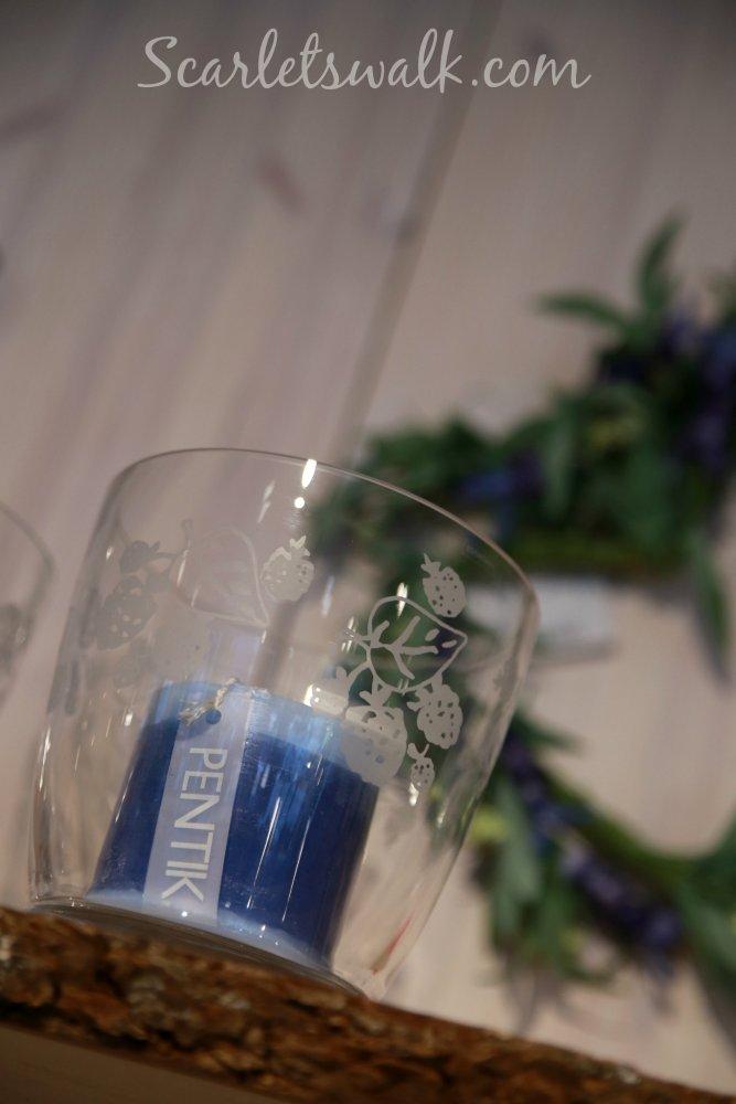 pentik sininen kynttila