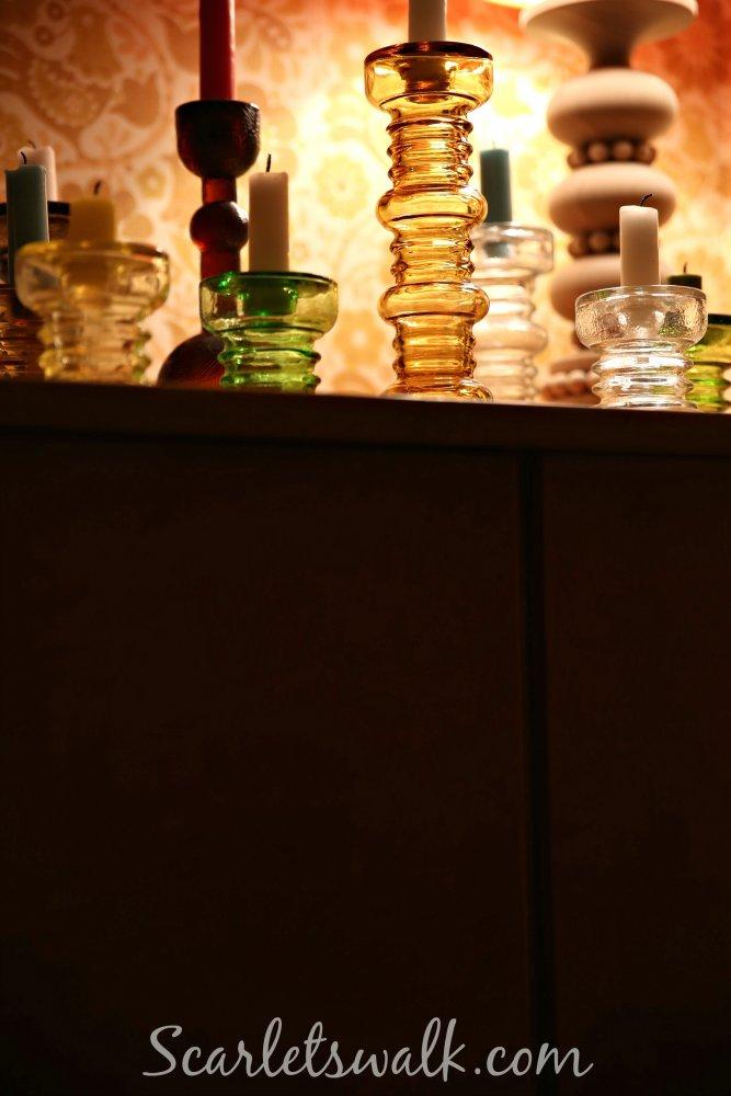 sisustus lasiset kynttilajalat