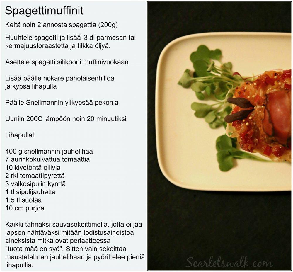 Snellman spagettimuffinit