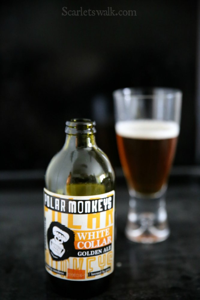 Hartwall Polar monkeys white collar golden ale