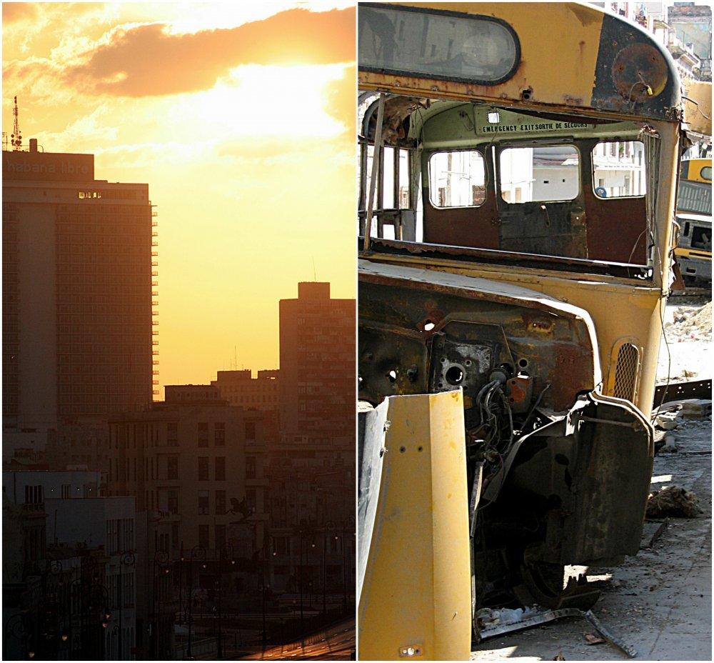 Cuba yellow buss